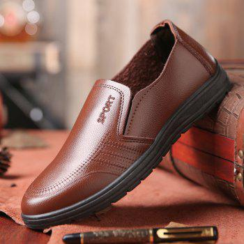 Men'S Business Casual Shoes Dad Casual Shoes - BROWN 41