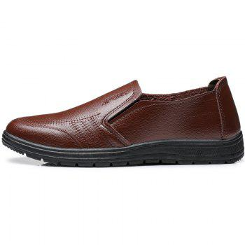 Men'S Business Casual Shoes Dad Casual Shoes - BROWN 42