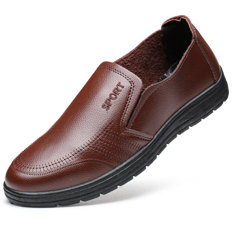Men'S Business Casual Shoes Dad Casual Shoes - BROWN 44