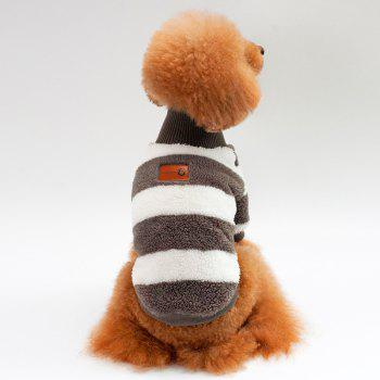 Coral Fleece Stripe Sweater Dog Clothes - DEEP GRAY DEEP GRAY