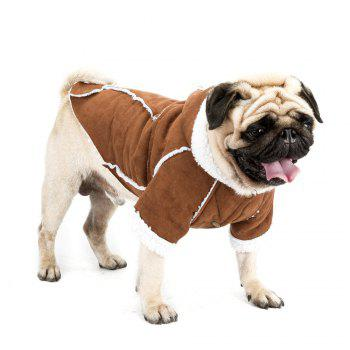 Fashion Suede Winter Jacket for Small Dog - BROWN M