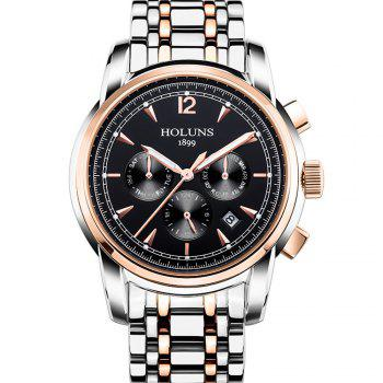 HOLUNS 4872 Men Business Casual Steel Band Automatic Mechanical Watch - GOLD BLACK GOLD BLACK