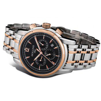 HOLUNS 4872 Men Business Casual Steel Band Automatic Mechanical Watch -  GOLD BLACK
