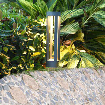 JIAWEN Simple Modern Outdoor Waterproof Lawn Lamp LED Aluminum Garden Light AC 85 - 265V - GRAY 7W
