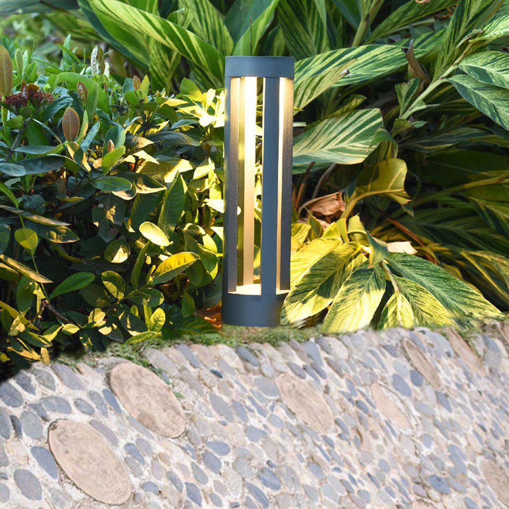 JIAWEN Simple Modern Outdoor Waterproof Lawn Lamp LED Aluminum Garden Light AC 85 - 265V - GRAY 9W