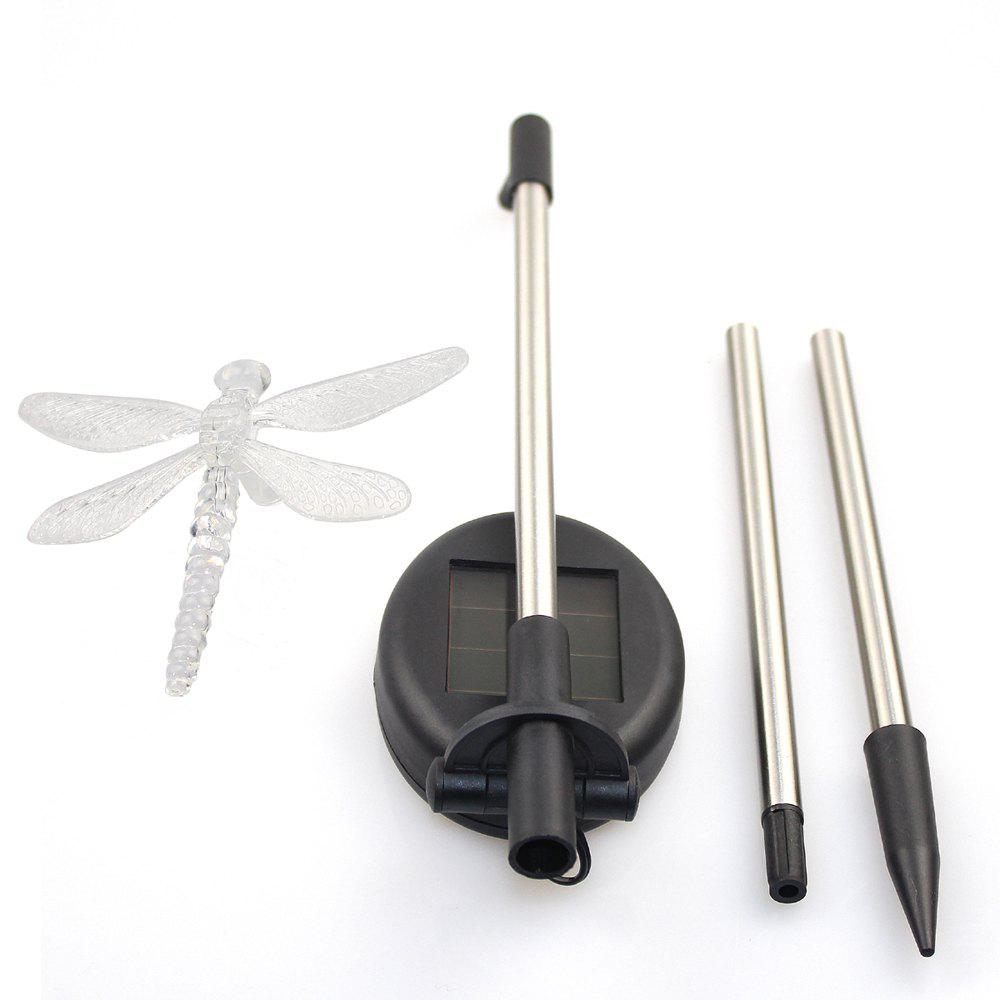 Solar Color-changing Dragonfly Butterfly Garden Stake Light 2PCS - RGB