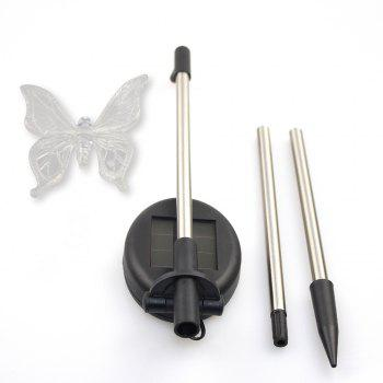 2PCS Solar Color-Changing Butterfly Garden Stake Light -  RGB
