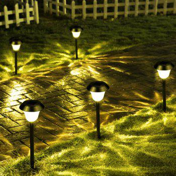 Stainless Steel 1 - LED Solar Lawn Light Pathway Garden Lamp 8PCS - WARM WHITE LIGHT