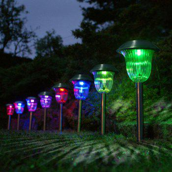 Stainless Steel 1 - LED Solar Lawn Light Pathway Garden Lamp 8PCS - RGB RGB