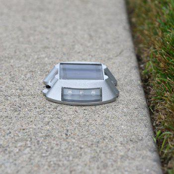Aluminum Solar 6 - LED Outdoor Road Driveway Dock Path Ground Light Lamp - WHITE LIGHT