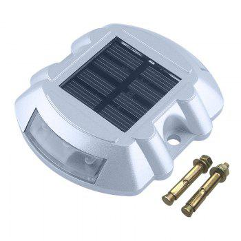Aluminum Solar 6 - LED Outdoor Road Driveway Dock Path Ground Light Lamp - RED LIGHT