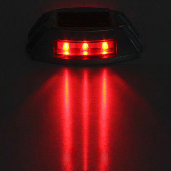 Aluminum Solar 6 - LED Outdoor Road Driveway Dock Path Ground Light Lamp - RED LIGHT RED LIGHT