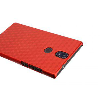 Ocube Metallic Finish Anti-Discoloring Premium Hard Plastic Case Cover for Umidigi Crystal - RED