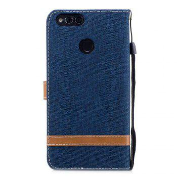 Spell Color Denim Phone Case for HUAWEI Honor 7X - PURPLISH BLUE