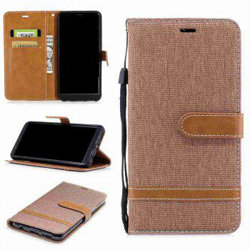 Spell Color Denim Phone Case for HUAWEI Honor 7X - BROWN BROWN