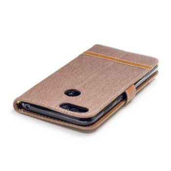 Spell Color Denim Phone Case for HUAWEI Honor 7X - BROWN