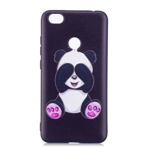 Painted TPU Phone Case for Redmi Note 5A - BLACK WHITE
