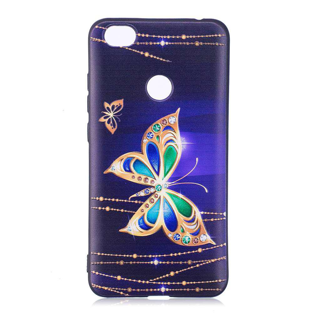 Painted TPU Phone Case for Redmi Note 5A - BLUE