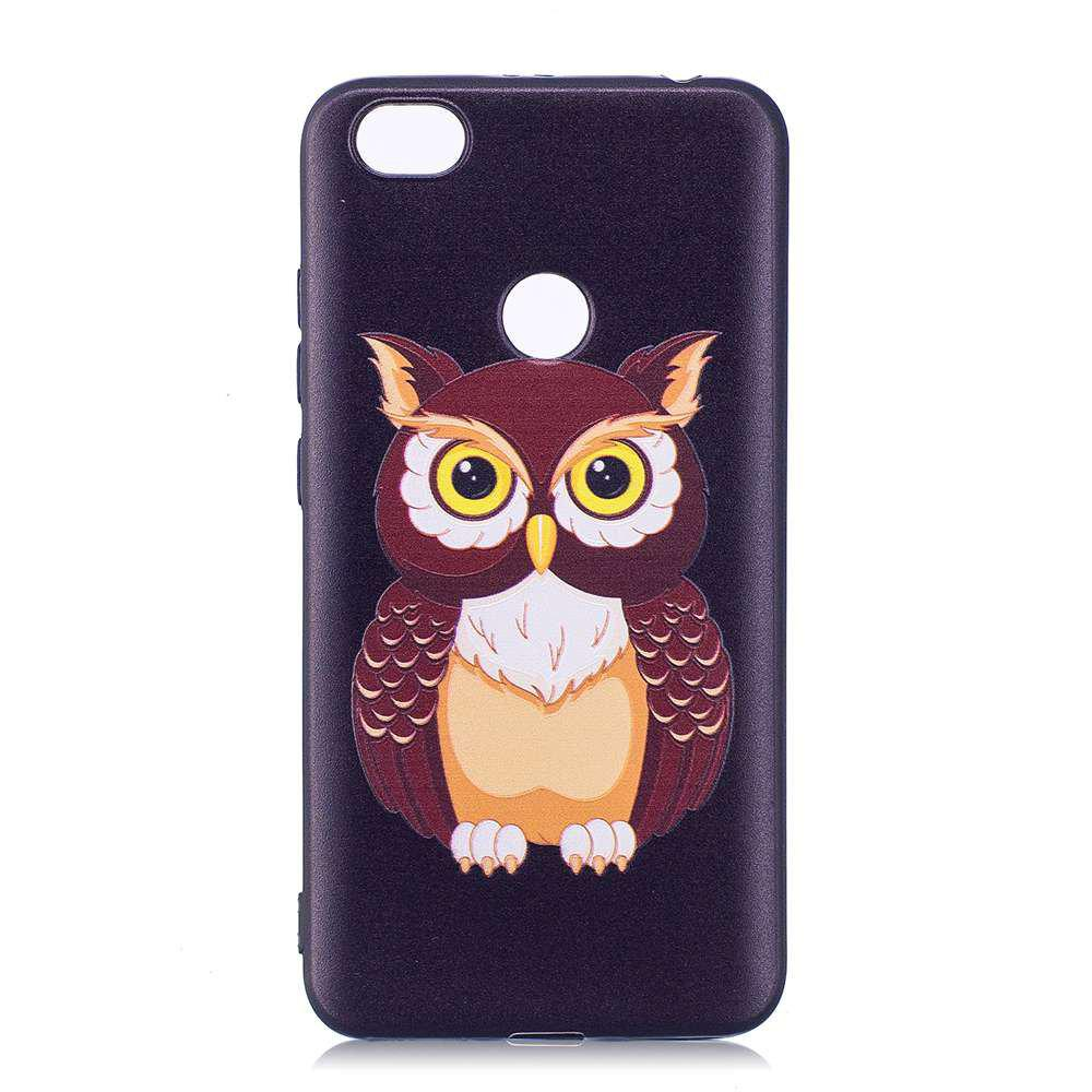 Painted TPU Phone Case for Redmi Note 5A - BLACK BROWN