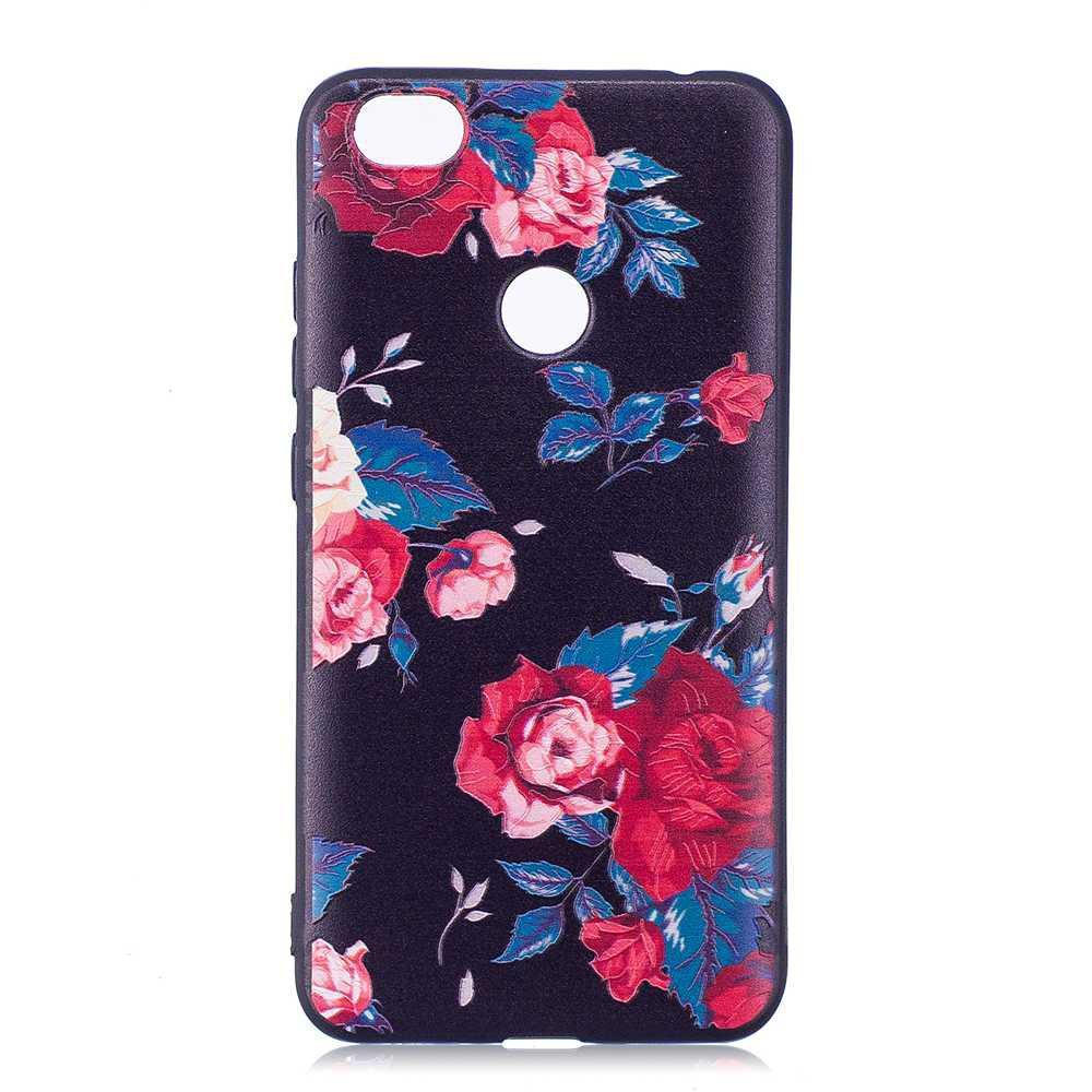 Painted TPU Phone Case for Redmi Note 5A - RED