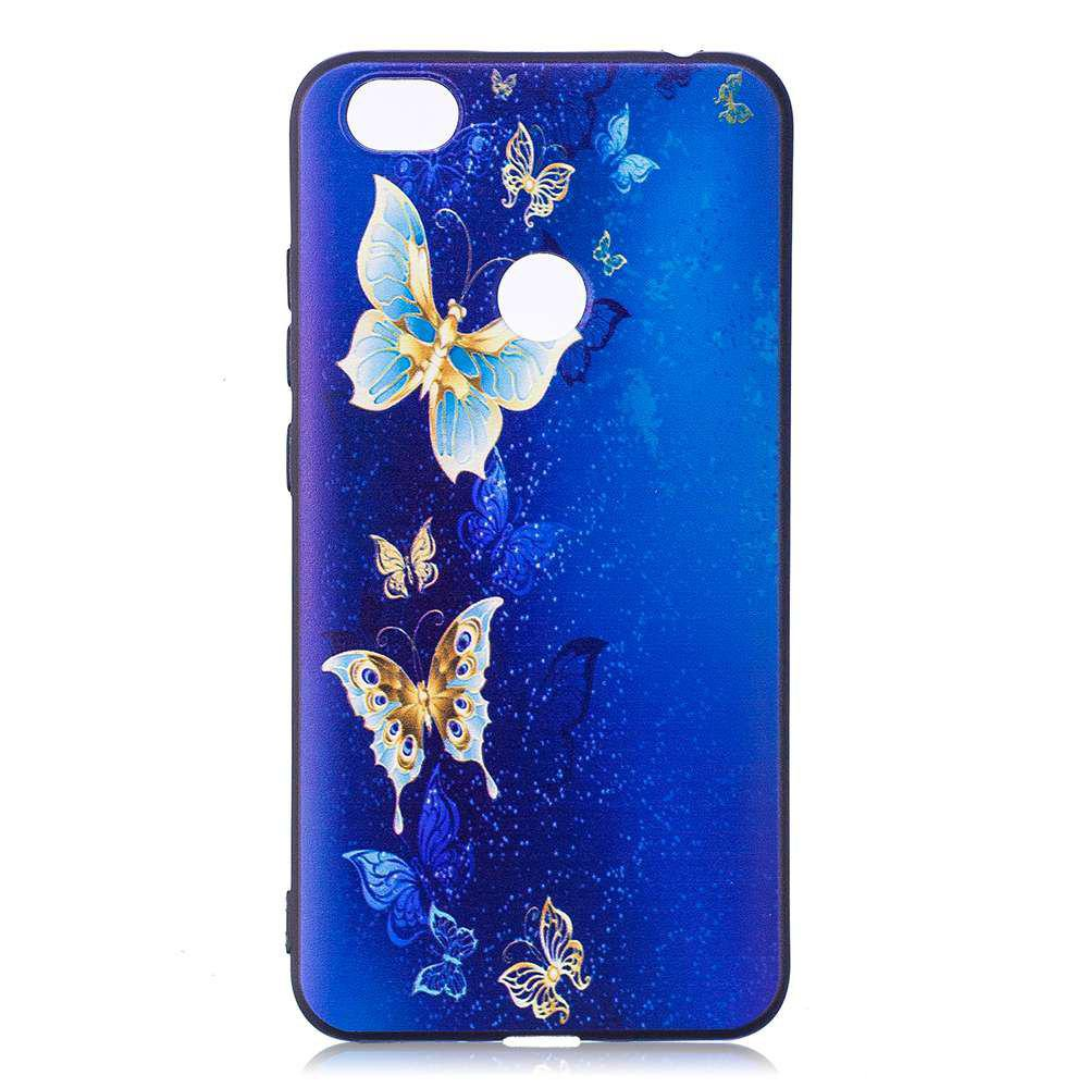 Painted TPU Phone Case for Redmi Note 5A - GOLDEN