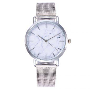 Trendy Casual Stainless Steel Band Unisex Quartz Watch - SILVER