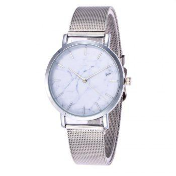 Trendy Casual Stainless Steel Band Unisex Quartz Watch - SILVER SILVER