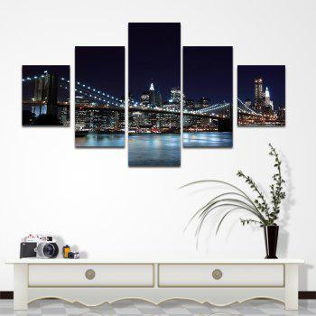 Copies de toile non encadrées New York Brooklyn Bridge Art Wall Decor 5PCS