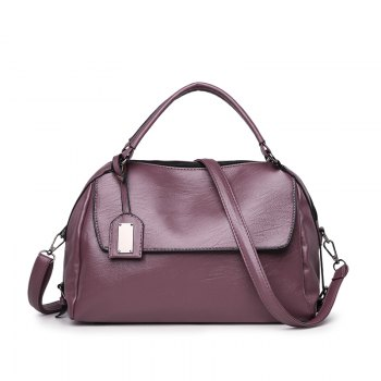 PU Leather Lady Handbag Luxury Designer Shoulder Messenger Bag - PURPLE PURPLE