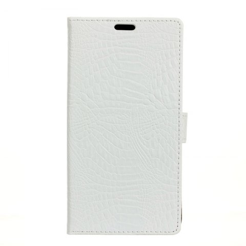 Wkae Retro Crocodile Pattern Business Leather Case for Huawei Honor 7X - WHITE