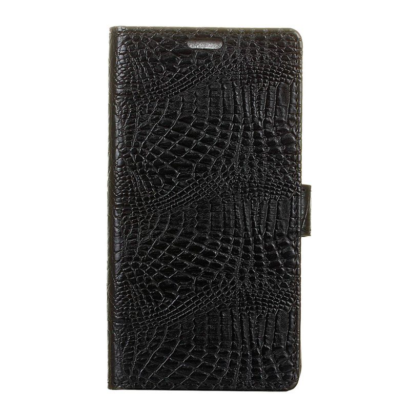 Wkae Retro Crocodile Pattern Business Leather Case for Huawei Honor 7X - BLACK