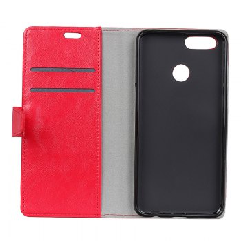 Wkae Vintage Crazy Leather Case for Huawei Honor 7X - RED