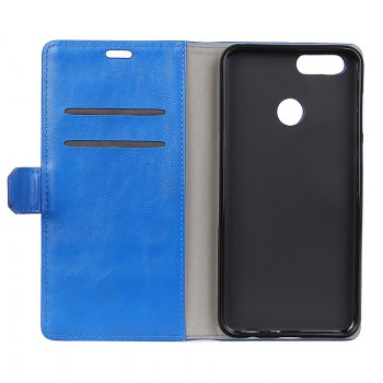 Wkae Vintage Crazy Leather Case for Huawei Honor 7X - BLUE