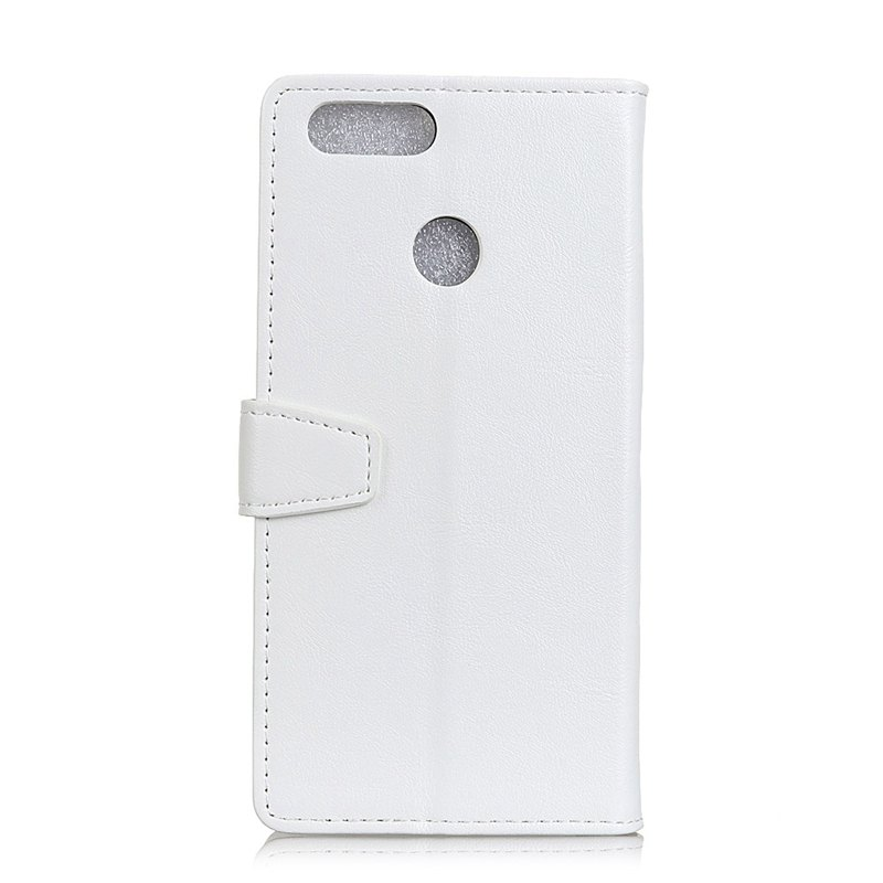 Wkae Vintage Crazy Leather Case for Huawei Honor 7X - WHITE