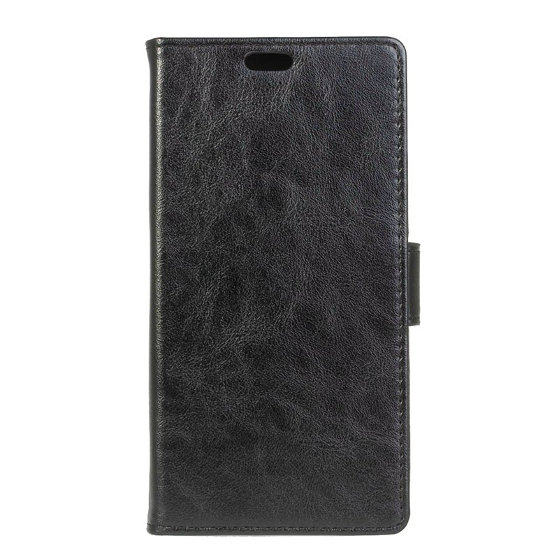 Wkae Vintage Crazy Leather Case for Huawei Honor 7X - BLACK
