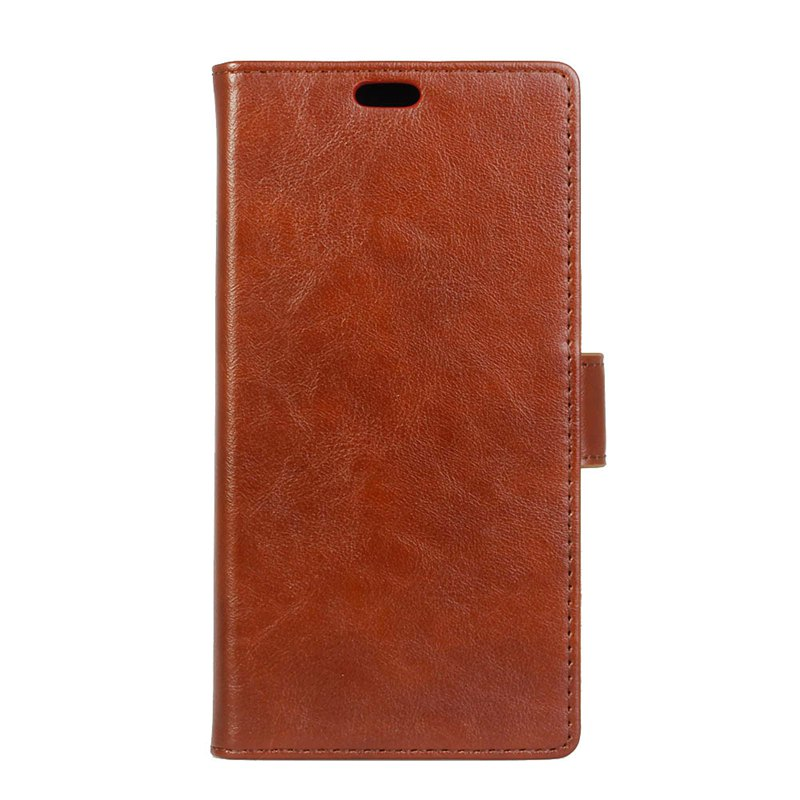 Wkae Vintage Crazy Leather Case for Huawei Honor 7X - BROWN