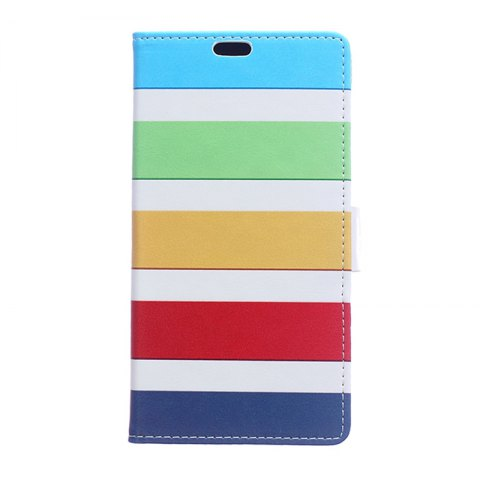 Wkae Vintage Classic Denim Texture Leather Case for Huawei Mate 10 Pro - BLUE/YELLOW/RED