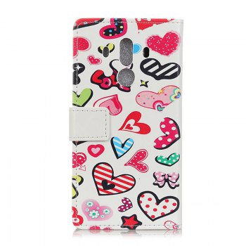 Wkae Vintage Classic Denim Texture Leather Case for Huawei Mate 10 Pro - ROSE RED