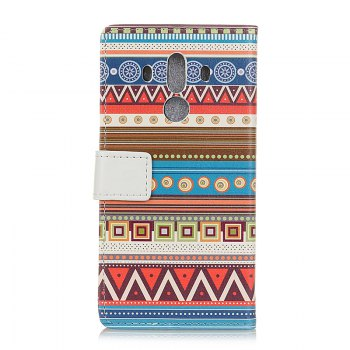 Wkae Vintage Classic Denim Texture Leather Case for Huawei Mate 10 Pro - BLUE/RED