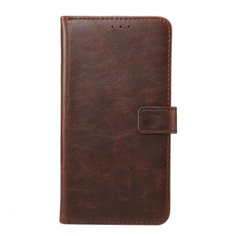 Wkae Crazy Horse Texture Leather Case Cover for Huawei Mate 10 Lite / Maimang 6 - BURGUNDY