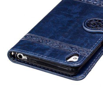 Genuine Quality Retro Style Oil Wax Flower Pattern Flip PU Leather Wallet Case for Sony Xperia XA - BLUE