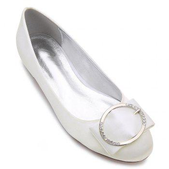 5049-31Women's Shoes Wedding Shoes Flat Heel - IVORY COLOR IVORY COLOR