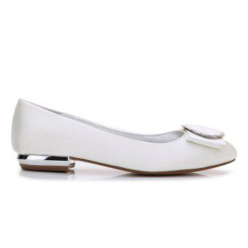 5049-31Women's Shoes Wedding Shoes Flat Heel - IVORY COLOR 37