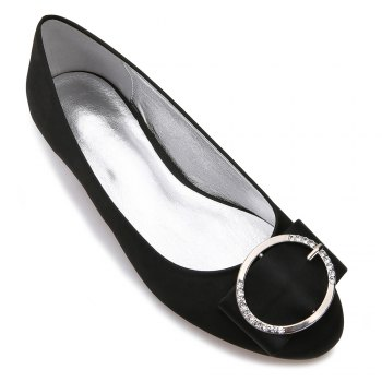 5049-31Women's Shoes Wedding Shoes Flat Heel - BLACK BLACK