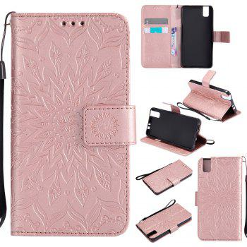 Sun Flower Printing Design Pu Leather Flip Wallet Lanyard Protective Case for Huawei Honor 7i - ROSE GOLD ROSE GOLD