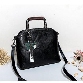 Women's Handbag Brief Design Patchwork Creative All-match Chic Versatile Bag - BLACK BLACK