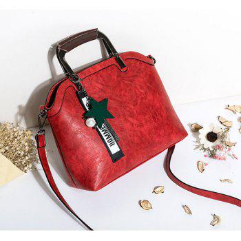 Women's Handbag Brief Design Patchwork Creative All-match Chic Versatile Bag - RED HORIZONTAL
