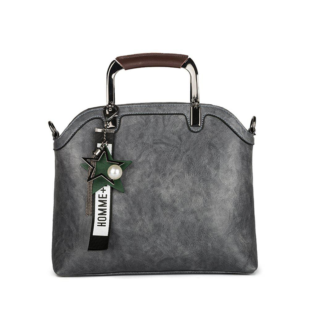 Women's Handbag Brief Design Patchwork Creative All-match Chic Versatile Bag - GRAY HORIZONTAL