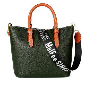 Women's Handbag Solid Color All-match Large Capacity Top Fashion Bag - GREEN GREEN