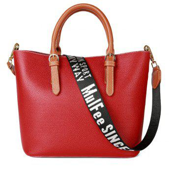 Women's Handbag Solid Color All-match Large Capacity Top Fashion Bag - WATERMELON RED WATERMELON RED